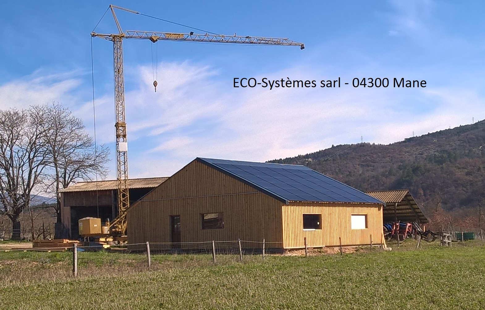 Eco syst mes sarl mane alpes de haute provence - Hangar gratuit avec toiture photovoltaique ...